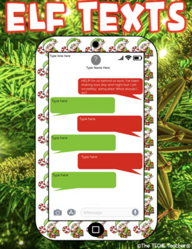 CHRISTMAS THEMED DIGITAL WRITING ACTIVITY: ELF TEXTS