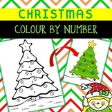 CHRISTMAS TREE colour by number