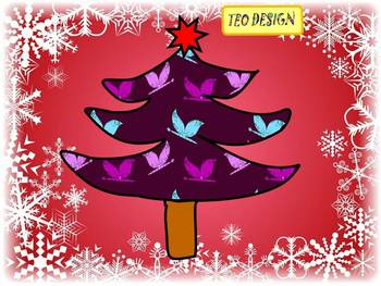 Christmas Tree - Writing paper - Clip Art - Personal or Commercial Use