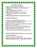 CHRISTMAS TRIVIA CONTEST: FOR ADMINISTRATORS, TEACHERS, COLLEGE, H.S.