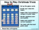 CHRISTMAS TRIVIA GAME - Categories and Questions Game Show Style!