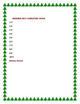 CHRISTMAS TRIVIA QUIZ: GRADES 3-7