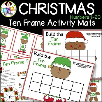 Christmas Ten Frames ● Christmas Math Games ● Numbers 1-20 ● Math Centers