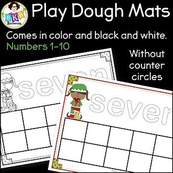 Christmas Activities ● Playdough Mats ● Numbers 1-10 ● Ten Frames●Math Centers
