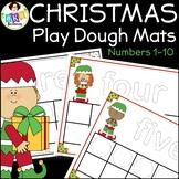 Christmas Play Dough Mats ● Christmas Ten Frames ● Math Centers ● Numbers 1-10