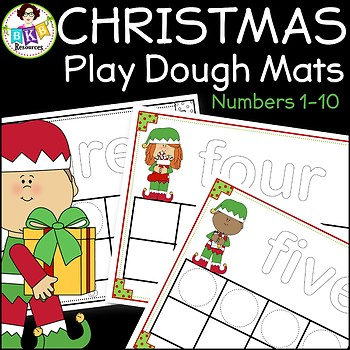 Christmas Activities ● Playdough Mats ● Numbers 1-10 ● Ten