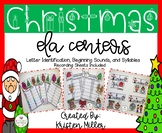 CHRISTMAS Theme ELA Centers