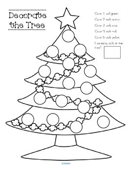 CHRISTMAS Tree - Following Directions FREE