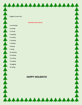 CHRISTMAS VERB ACTIVITY: HAVE FUN WITH GRAMMAR!