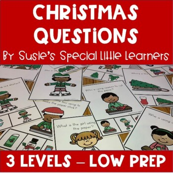 WH QUESTIONS WITH VISUALS FOR AUTISM AND SPECIAL EDUCATION - CHRISTMAS