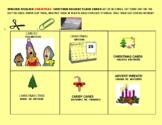 CHRISTMAS VOCABULARY FLASH CARDS/ GRS 3-7, ESL ENGLISH/SPANISH