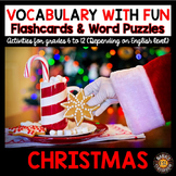 Christmas Activities 5 Word Puzzles and 30 Photo Flash Cards