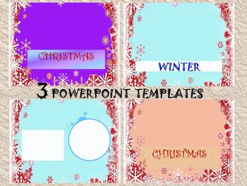 Winter Activities - Editable Powerpoint templates - Personal or Commercial Use