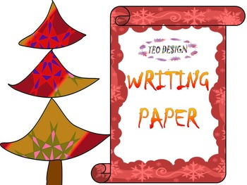 Winter Activities - Writing paper - Snowman - Clip Art -  Bulletin board