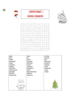 CHRISTMAS WORD SEARCH FREE
