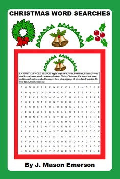 CHRISTMAS WORD SEARCHES fun activities and also has Spanish glossary