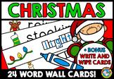 CHRISTMAS WORD WALL AND FREE CHRISTMAS WRITING ACTIVITY (W