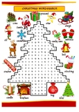 CHRISTMAS WORDSEARCH fun activity | Christmas Tree Word Search