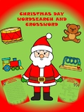 CHRISTMAS CROSSWORD PUZZLE AND WORDSEARCH