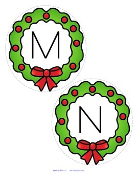 CHRISTMAS Alphabet Upper and Lower Case Matching