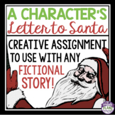 CHRISTMAS WRITING: CHARACTER SANTA LETTER WRITING