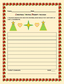 CHRISTMAS WRITING PROMPT: THE WISH