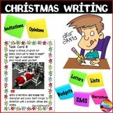 CHRISTMAS WRITING Activities Literacy Center Task Cards Individual Fun Ideas