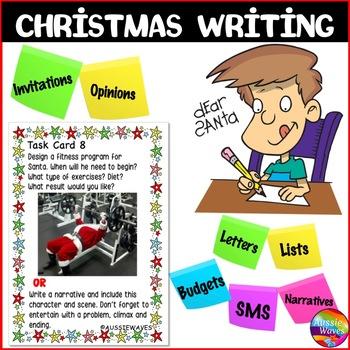 CHRISTMAS WRITING Individual Activities and Writing Task Cards