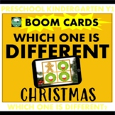 CHRISTMAS Which one is Different? BOOM CARDS™ Distance Learning