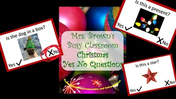 CHRISTMAS! Yes No Questions for Speech Therapy
