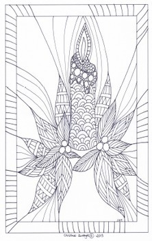 CHRISTMAS - Zentangles 2 to color in