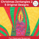 Zentangle Coloring Pages – Christmas Designs 2
