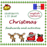 CHRISTMAS flashcards & activities for K & 1st ***ENGLISH r