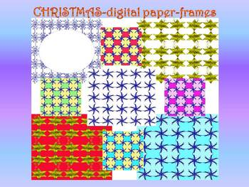 Winter - Digital paper - Snowflakes - Clip Art
