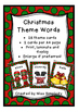 CHRISTMAS theme word cards WORD WALL *** 26 Xmas words for display!