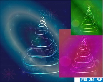CHRISTMAS tree 2016 Santa Snow PNG PDF JPG ORNAMENT Clip A