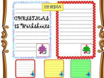 Christmas - Writing paper - Clip Art - Personal or Commercial Use