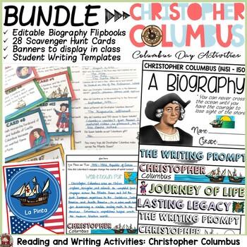 CHRISTOPHER COLUMBUS BUNDLE {BIOGRAPHY, SCAVENGER HUNT, PO