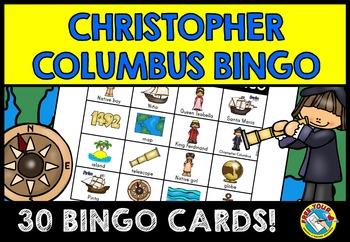 CHRISTOPHER COLUMBUS GAME: WHOLE CLASS BINGO GAME SET: COL