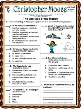 CHRISTOPHER MOUSE!  The Tale of a Small Traveler,  Kids Wings Activity Guide