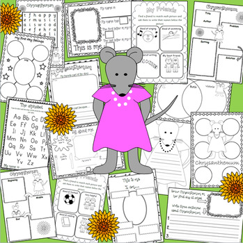 CHRYSANTHEMUM book and name activity pack for back to school