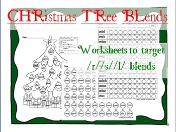 CHRistmas TRee BLends printables for /r/ /s/ /l/-blends