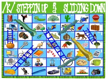 STEPPIN UP & SLIDING DOWN Game- Articulation Practice for /K/,/SH/,/CH/ & /L/