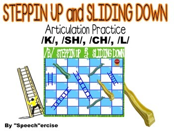 STEPPIN UP & SLIDING DOWN Game- Articulation Practice for