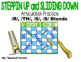 STEPPIN UP & SLIDING DOWN Game-Artic. Practice for /R/,/TH/,/S/ & /S/ BLENDS