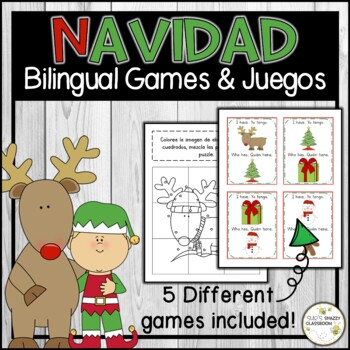 Christmas - Navidad GAMES (English & Spanish)