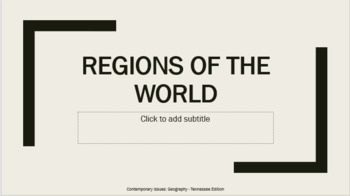 CI.02 - Regions of the World (PowerPoint with Guided Notes)