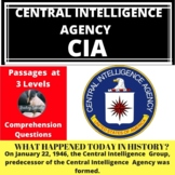CIA Central Intelligence Agency Differentiated Reading Pas