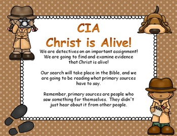 CIA - Christ is Alive Bible Task Cards