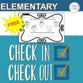 CICO Check In Check Out Daily Form Elementary Edition